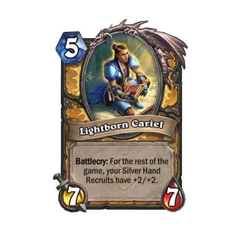 炉石传说新版本卡牌预览 圣骑士传说法术和新机制任务线